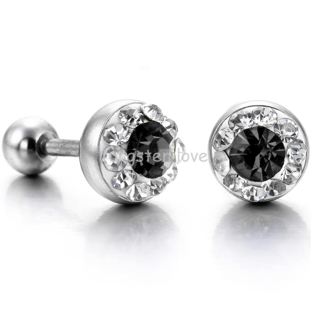 xl men diamond stud hd big mens earrings for pin square fashion