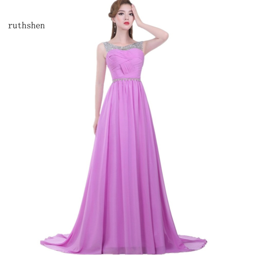Lilac purple bridesmaid dresses cheap 2017 beaded bride for Cheap lavender wedding dresses