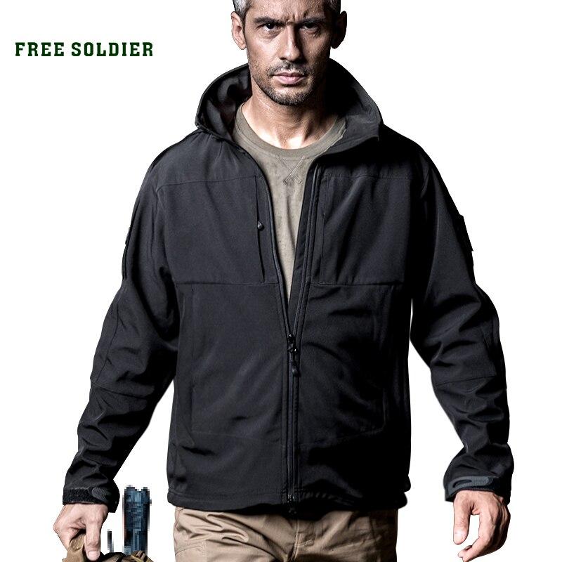 FREE SOLDIER  водонепроницаемый ветрозащитный куртка с теплой отстегнуть подкладка (отдельно продавать) Локальная доставка