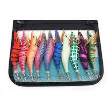 رائع Eging صيد السمك 10 قطعة/الحقيبة الروبيان الاصطناعي إغراء القفز 3.5 3.0 اليابانية الحبار هوك الأخطبوط الطعم الحبار الرقص