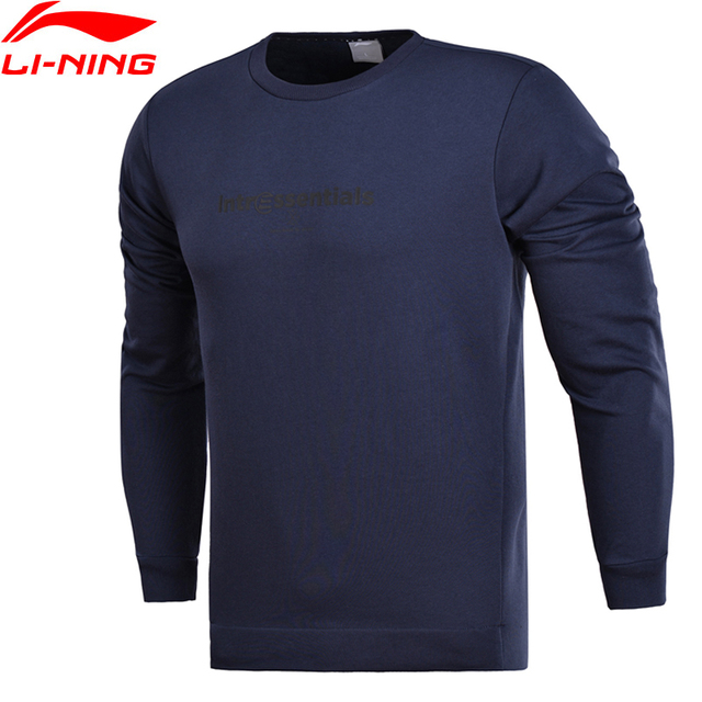 Li-Ning Men Training Essentials PO Knit Top Sweaters Regular Fit Comfort Double Fleece LiNing Sports Sweater AWDN089 MWW1388