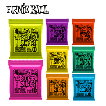 Hot! Ernie Ball Guitar String 2627 2223 2221 2627 2626 2215 Nickel Beefy Slinky Drop Tuning Electric Guitar Strings Wound Set фото