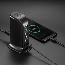 USB быстрое зарядное устройство для стены Зарядное устройство Multi Touch 6-Порты и разъёмы башня стенд зарядная станция w/30 w Выход 6A для смартфонов Планшеты Bluetooth колонки