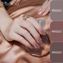 MISS NORA Nail Polish 6ml Nude Color Quick Drying Tearing Gel Art Top Coat Manicure Varnish Lacquer Primer