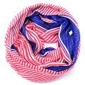 Striped infinity scarf women Zig Zag ring hijab echarpes foulard femme plaid marcas soie roupa feminina british style designer