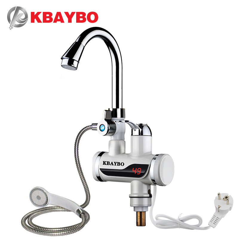 3000 Watt Instant Elektrische Dusche Durchlauferhitzer Instant Warmwasserhahn Küche Elektrische Leitungswasser Heizung Durchlauferhitzer