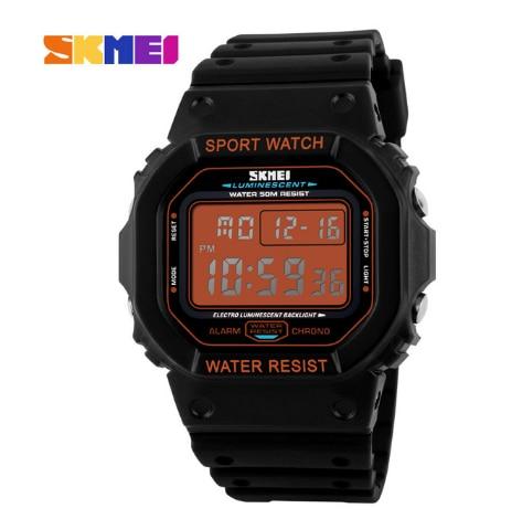 Skmei marque montres hommes militaire LED numérique plongée montre pour hommes 50 M mode Sport en plein air montre pour homme - 4