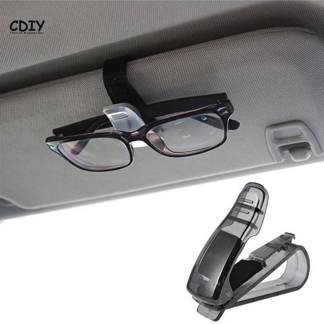 309330ae73795d CDIY Hot Koop Auto Fastener Cips Accessoires ABS Car Vehicle Zonneklep  Zonnebril Houder Brillen Bril Stand