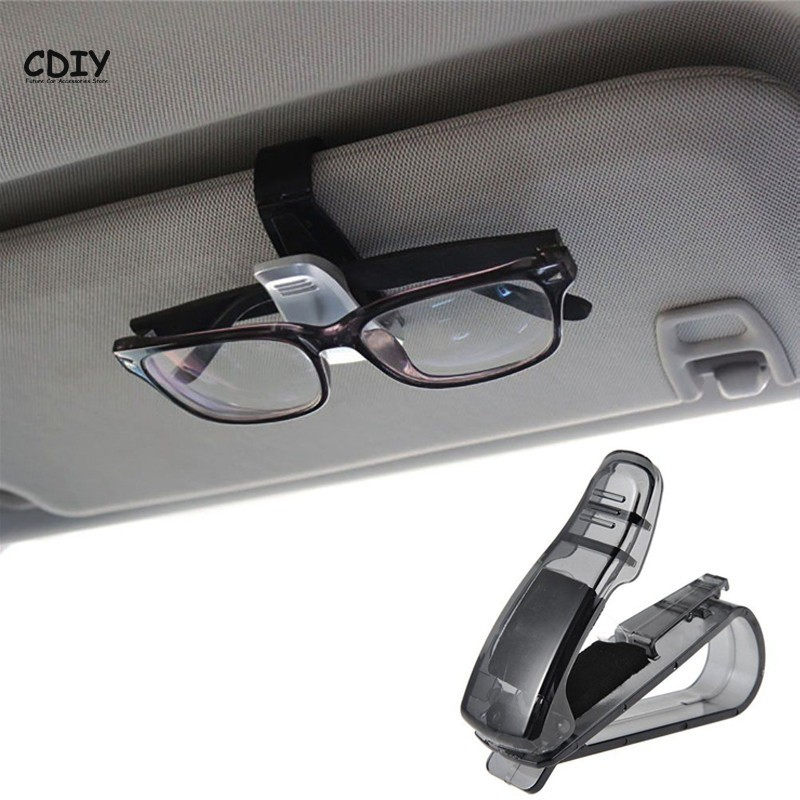 Trim Car Suv Sun Visor Clip Sunglasses Storage Box Glasses Holder Transparent Color