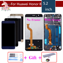ORIGINAL LCD For HUAWEI Honor 8 LCD Display Touch Screen Digitizer with Frame For Honor8 FRD-L19 FRD-L09 LCD Assembly Complete original 4 inch complete lcd for garmin monterra topo gps navigator lcd screen display with touch screen digitizer assembly