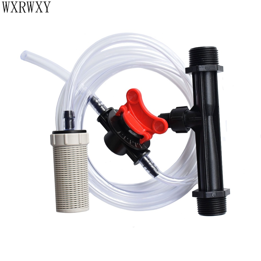 Venturi fertilizer injector 3/4 1/2 Irrigation Venturi Automatic Fertilizer Syringe Water Pipe Filter Built-in gravity ball 1set