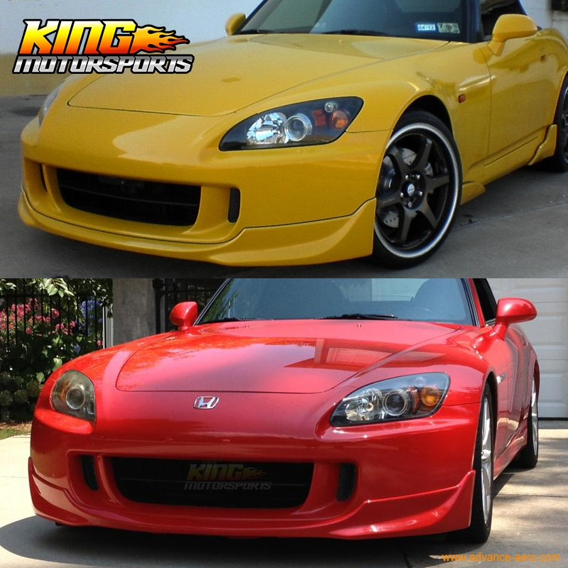 OE STYLE PU FRONT BUMPER LIP POLY URETHANE BODY KIT FOR 04-09 HONDA S2000