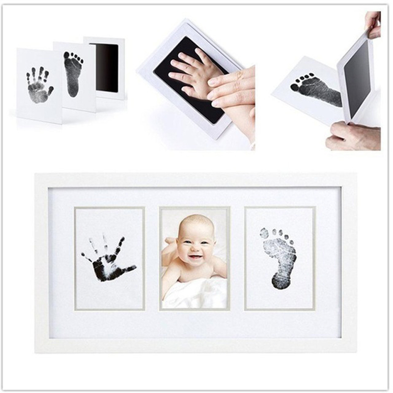 Taoqueen Baby Handprint Footprint Non-Toxic Newborn Imprint Hand Inkpad Watermark Infant Souvenirs Casting Clay Toys Gift