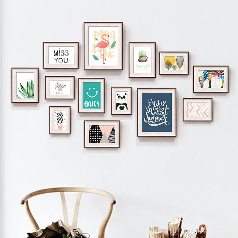 13 Pieces American Style Photo Frames For Sofa Bagkground Simple Photo Frames Set Wall Hanging Picture Frames marcos para fotos13 Pieces American Style Photo Frames For Sofa Bagkground Simple Photo Frames Set Wall Hanging Picture Frames marcos para fotos