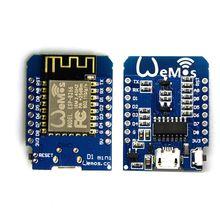 цена 5PCS/lot D1 mini - Mini For NodeMcu 4M bytes Lua WIFI Internet of Things development board based ESP8266