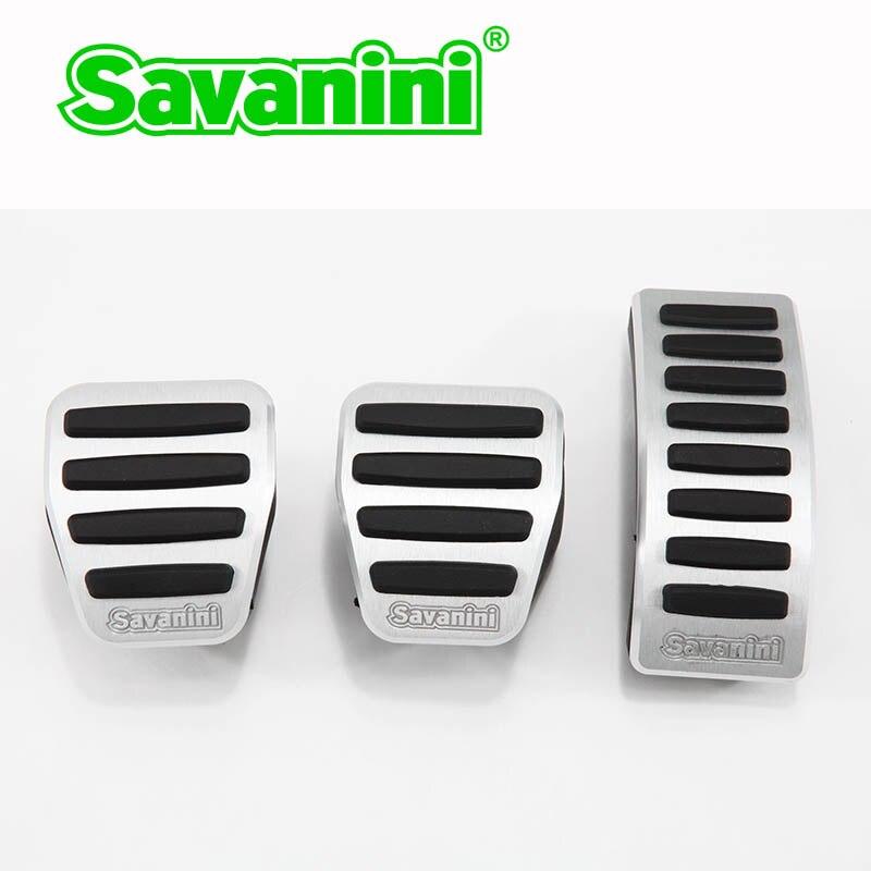 Savanini подножка сцепления педаль тормоза и газа Pad комплект для VW Polo/Lamando/Bora/Jetta/Audi A1 AT/MT. Алюминий на нескользящей подошве - Название цвета: 3pcs MT