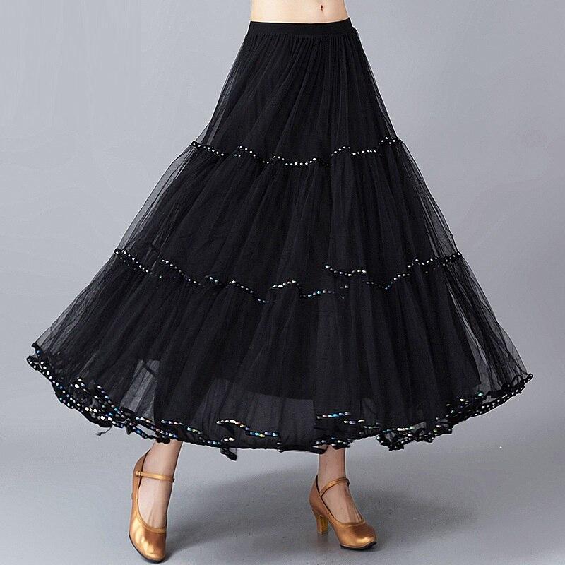 Adult Ballroom Dancing Skirt Black Flamenco Skirts Ballroom Dance Suit Women Waltz Dancing Costumes Watz Dancing