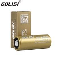 ניקוז גבוה Golisi 26650 סוללת ליתיום יון מוגן 3.7 V 4300 mAh סוללה נטענת עבור פנסי פנס LED לפיד