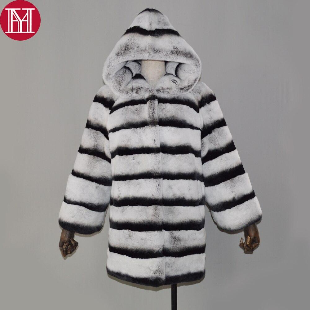 Rex De Haute Naturel Fourrure À Grey Veste Manteau Réel Lapin 100 Long Capuchon Style Véritable Qualité D'hiver Manteaux Femmes qYt00O