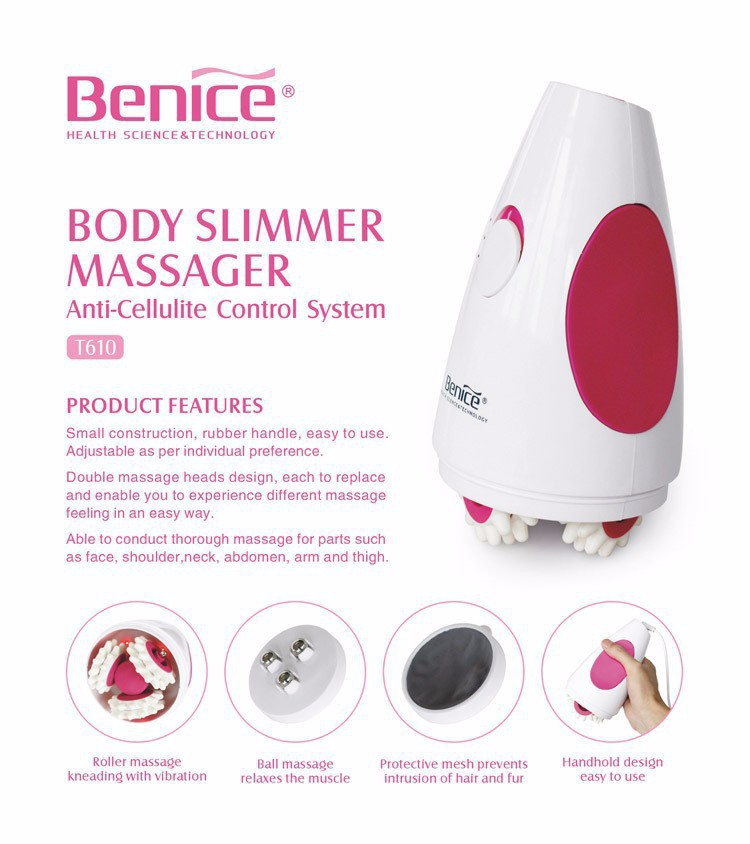 Benice Massage Slimming Machine Anti Cellulite Restore Skin Firmness Small Construction Rubber Handle Individual Beauty Tool-2