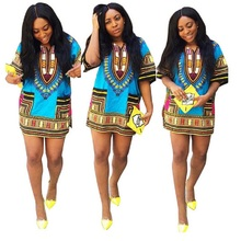 Африка африканская базен африканских традиционная dashiki печать футболки одежды дизайн женские