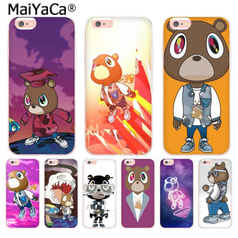 MaiYaCa Kanye West Graduation Bear Top Detailed soft Phone case for iPhone 8 7 6 6S.jpg q50