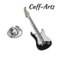 Cuffarts Männer Revers Pin Abzeichen Schwarz Gitarre Revers Pin 2018 Hohe Qualität Männer Schmuck Geschenk Partei Trendy Elegante Broschen P10004