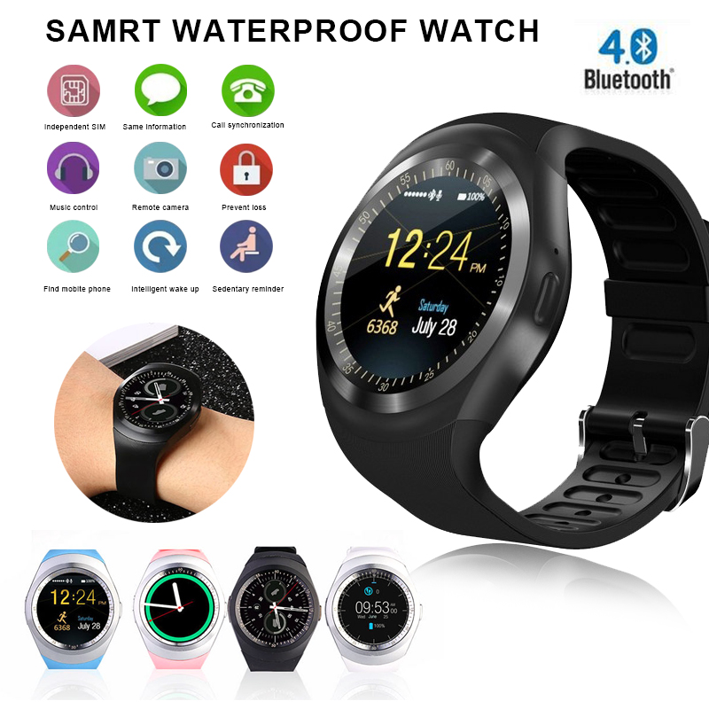 Bluetooth Smart Watch Men Sim Card Calendar relogio inteligente Women Wearable Devices Android Smartwatch For Android Phone цены