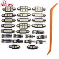 25Pcs Car White Interior LED Light Kit For BMW 5 Series E39 525i Wagon Touring 99