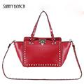 New fashion star single shoulder  rivet handbags female famous brands luxury designers handbags