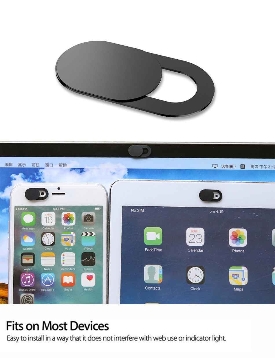 !ACCEZZ WebCam Cover Shutter Magnet Slider Plastic Camera Cover Macro Lens For Web Laptop iPad PC Macbook Tablet Privacy Sticker (1)