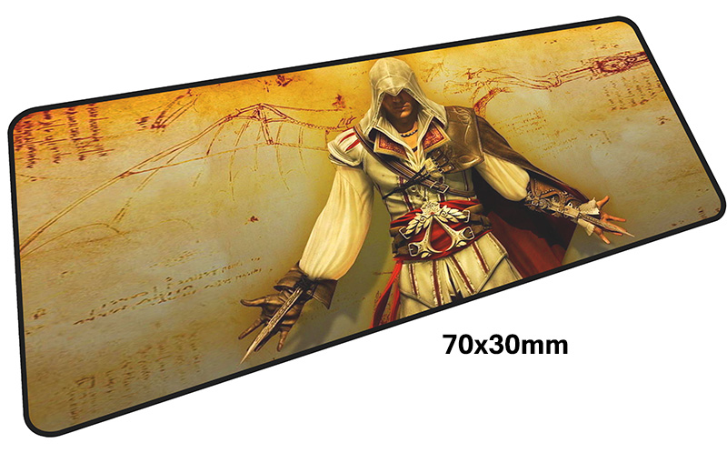 Assassins Creed mousepad gamer 700x300X3MM gaming mouse pad large Mualim notebook pc accessories laptop padmouse ergonomic mat