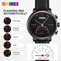 SKMEI Моды Кварц Смарт Наручные Часы SmartWatch Для мужчин Элитный бренд Для женщин авто время вызова сообщение напоминание шагомер спортивные час