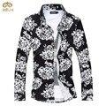 Супер Большой Размер Цветка 6XL 5XL Сорочка Homme Бренд Clothing Slim Fit Мужчины Рубашка 8 Цвета С Длинным Рукавом Camisa Masculina 2017 НОВЫЙ