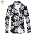 Super Large Size Flower Chemise Homme 6XL 5XL Brand Clothing Slim Fit Men Shirt 8Color Long Sleeve Camisa Masculina 2017 NEW