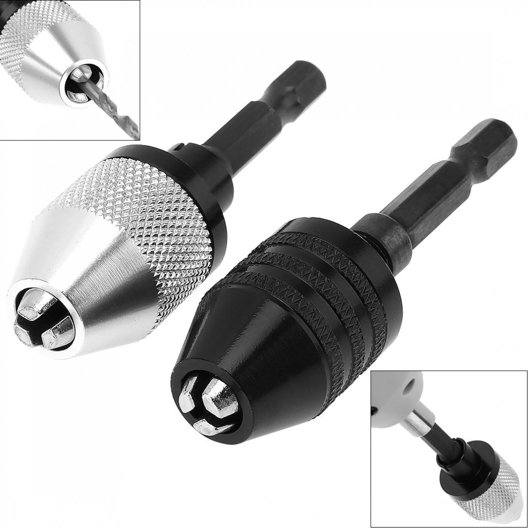 Новинка 0,3-6,5 мм витой Сверлильный Патрон Отвертка ударный Драйвер адаптер с 1/4 шестигранным хвостовиком три зажима для электрической шлифо...