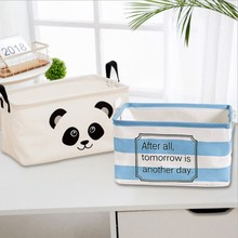 Foldable Storage Basket Storage Bin Closet Toy Box Container Organizer Fabric Basket Home Desktop Storage Baskets Bags