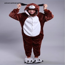 Kigurumi Cosplay Cute cartoon zodiac dog Onesies Winter Kawaii Anime Hoodie Pyjamas  Adult Christmas Costume Women Man Pajama