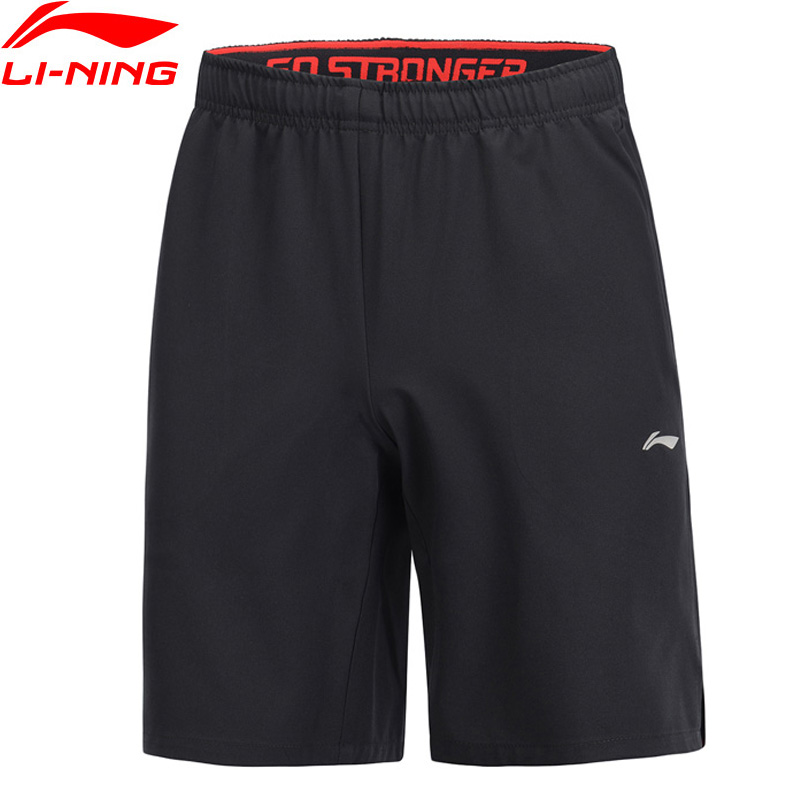 Li-Ning Men Training Shorts 91.1% Polyester 8.9% Spandex Regular Fit LiNing Li Ning Comfort Fitness Sport Shorts AKSP027 MKD1604