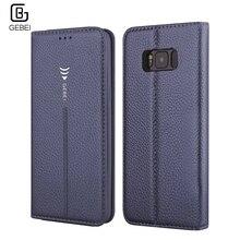 Gebei Флип кожаный бумажник Слот для карты Магнит Стенд чехол для Samsung Galaxy S6 S7 край S8 плюс S 6 7 8 мобильного телефона крышка Shell