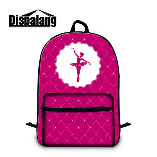 04b2bcc3bf65 Dispalang Unique Ballet Dancing Girl Backpack for Teenagers Pretty Bookbag  with Laptop Sleeve Fashion Day Pack Children Mochilas