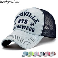 Men Women NYS Denim Baseball Caps Top Quality Lovers Summer Casual Curved Peaked Snapback Hats
