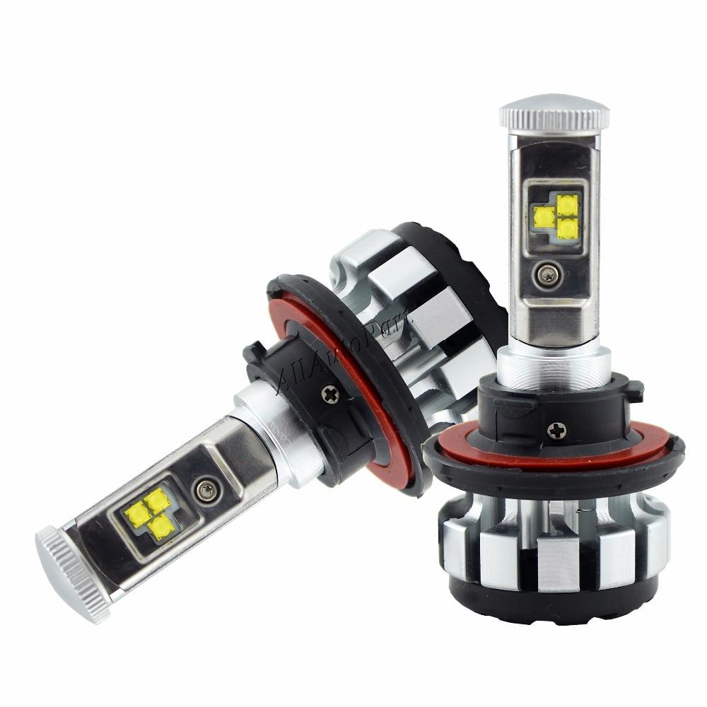 2 Pcs 12 V 24 V T1s Phare De Voiture H4 LED H7 H1 H3 H11 H13 9004 9005 9006 9007 S2 80 W 8000LM Canbus Auto Phare 6000 K Lumière ampoule