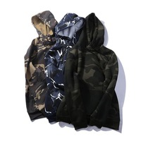 Fashion Camouflage Sweatshirt Military Style Sweatshirt Hip Hop Hoodie Men Casual Camouflage Long Sleeved Street Sportswear