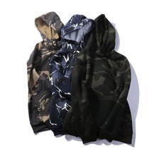 USA SIZE Camouflage Sweatshirt Military Style Sweatshirt Hip Hop Hoodie Men Casual Camouflage Long-Sleeved Street Sportswear