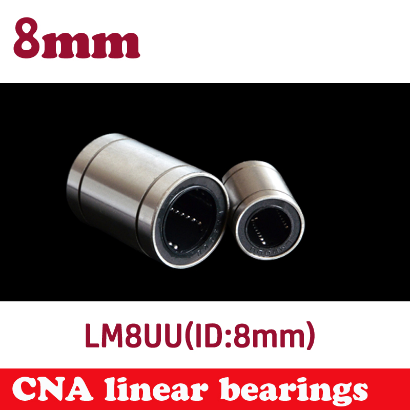 12 pcs/lot LM8UU 8mm linear ball bearing Linear Bearing 8mm 3d printer parts LM8 cnc parts Free shipping free shipping 12pcs lot lm8uu 8mm linear bushing cnc linear bearings for 3d printer