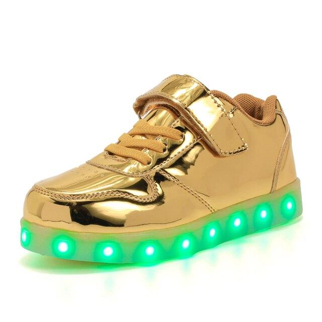 promo code 6d57b 978df Leucht Turnschuhe Schuhe Led Licht Kinder beleuchtung schuhe USB Lade  Mädchen Jungen Bis Glowing Schuh Größe 25 37 7 farbe