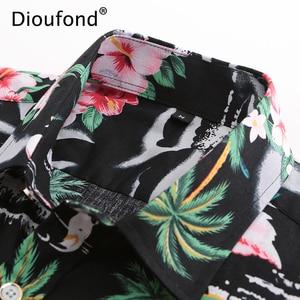Image 4 - ชุดเดรสแฟชั่นผู้หญิงจาก damoufond ผู้ชายฤดูร้อนแขนสั้นสีชมพู Flamingo พิมพ์ฮาวายเสื้อ Casual Beach เสื้อผู้ชายดอกไม้ปุ่มลงเสื้อ fit