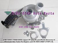 GTB1749VK 778400 778400-0005 778400-0004 LR029915 турбо для Jaguar XF Lion V6 для Land Rover Discovery IV 2009-TDV6 306DT 3.0L