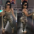 XM6022 Hot fashionable rompers women jumpsuit camouflage sexy bodycon jumpsuit women overalls long pants